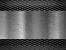 Priorità bassa eccessiva di piastra metallica della griglia del pettine Immagine Stock Libera da Diritti