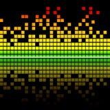 Priorità bassa elegante di musica Immagine Stock