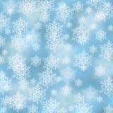 Priorità bassa elegante di natale con i fiocchi di neve Fotografie Stock