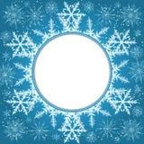 Priorità bassa elegante di natale con i fiocchi di neve e posto per testo Priorità bassa astratta di inverno Immagini Stock Libere da Diritti