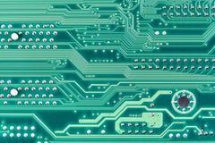 Priorità bassa elettronica alta tecnologia di verde del circuito Immagine Stock