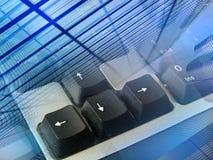 Priorità bassa elettronica (blue&black) Immagine Stock