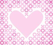 Priorità bassa/ENV del cuore di baci e degli abbracci Immagine Stock