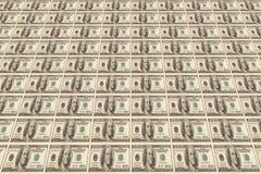 Priorità bassa fatta dalle banconote del dollaro Fotografia Stock Libera da Diritti