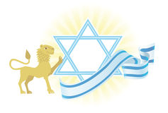 Priorità bassa felice alla festa ebrea Fotografia Stock