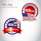 Priorità bassa felice dell'annata di festa dell'indipendenza con la nervatura Fotografia Stock