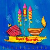 Priorità bassa felice di diwali Fotografie Stock