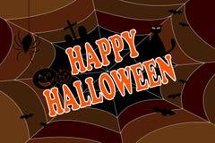Priorità bassa felice di Halloween Fotografia Stock