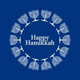 Priorità bassa felice di Hanukkah di vettore Immagine Stock
