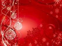 Priorità bassa festiva del nuovo anno con le sfere Immagine Stock