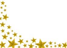 Priorità bassa festiva della stella dell'oro Fotografia Stock Libera da Diritti