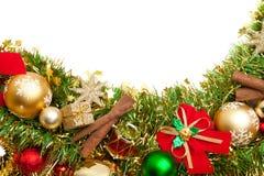 Priorità bassa festiva di natale decoration.card Fotografia Stock Libera da Diritti