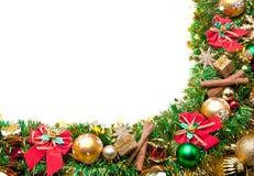 Priorità bassa festiva di natale decoration.card Fotografia Stock
