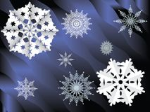 Priorità bassa, fiocchi di neve Immagine Stock Libera da Diritti