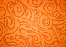 Priorità bassa floreale, arancione Royalty Illustrazione gratis