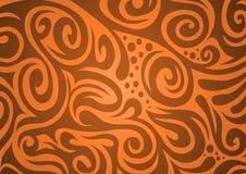 Priorità bassa floreale, arancione-marrone Royalty Illustrazione gratis
