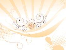 Priorità bassa floreale arancione variopinta astratta Fotografia Stock