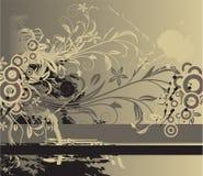 Priorità bassa floreale astratta con il posto per il vostro tex Royalty Illustrazione gratis