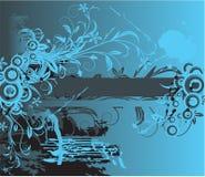 Priorità bassa floreale astratta con il posto per il vostro tex Illustrazione Vettoriale