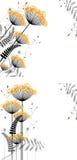 Priorità bassa floreale astratta degli elementi della pianta Fotografia Stock Libera da Diritti