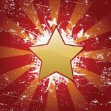 Priorità bassa floreale astratta della stella con spazio per voi royalty illustrazione gratis