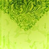 Priorità bassa floreale astratta nel verde Illustrazione di Stock