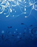 Priorità bassa floreale blu Fotografie Stock Libere da Diritti