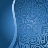 Priorità bassa floreale, blu Fotografia Stock