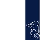 Priorità bassa floreale blu astratta della cancelleria della decorazione Immagine Stock Libera da Diritti