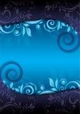 Priorità bassa floreale blu decorativa Fotografia Stock