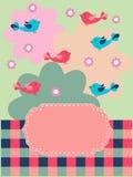 Priorità bassa floreale con gli uccelli royalty illustrazione gratis