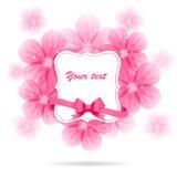 Priorità bassa floreale con i fiori dentellare Immagini Stock Libere da Diritti