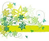 Priorità bassa floreale con i fiori verde oliva Immagine Stock Libera da Diritti