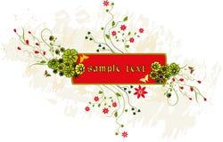 Priorità bassa floreale con il blocco per grafici Immagine Stock Libera da Diritti