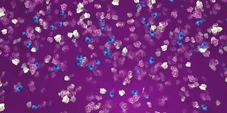 Priorità bassa floreale con le orchidee Fotografia Stock