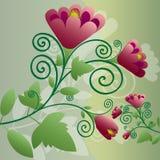Priorità bassa floreale decorativa Fotografie Stock