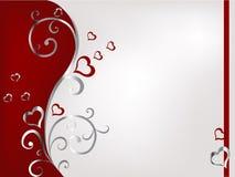 Priorità bassa floreale del biglietto di S. Valentino Fotografia Stock