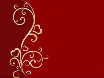 Priorità bassa floreale del biglietto di S. Valentino Fotografia Stock Libera da Diritti