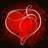Priorità bassa floreale del cuore Fotografia Stock