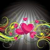Priorità bassa floreale del cuore di amore Fotografie Stock Libere da Diritti