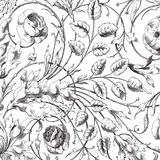 Priorità bassa floreale dell'album del damasco dell'annata Immagini Stock Libere da Diritti