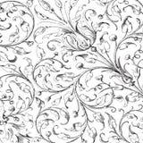 Priorità bassa floreale dell'album del damasco dell'annata illustrazione di stock