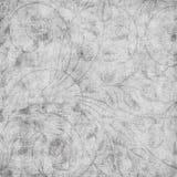 Priorità bassa floreale dell'album del damasco dell'annata Grungy Fotografia Stock