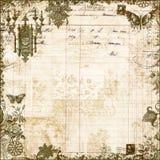 Priorità bassa floreale dell'album del Victorian antico Immagine Stock