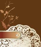 Priorità bassa floreale dell'annata con il vecchio tovagliolo. Fotografia Stock