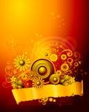 Priorità bassa floreale dell'ornamento Fotografie Stock