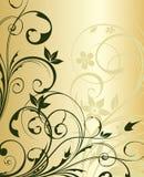 Priorità bassa floreale dell'oro illustrazione di stock