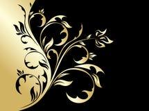 Priorità bassa floreale dell'oro royalty illustrazione gratis