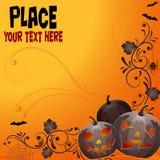 Priorità bassa floreale di Halloween Fotografia Stock Libera da Diritti