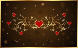 Priorità bassa floreale per il giorno del biglietto di S. Valentino Immagini Stock
